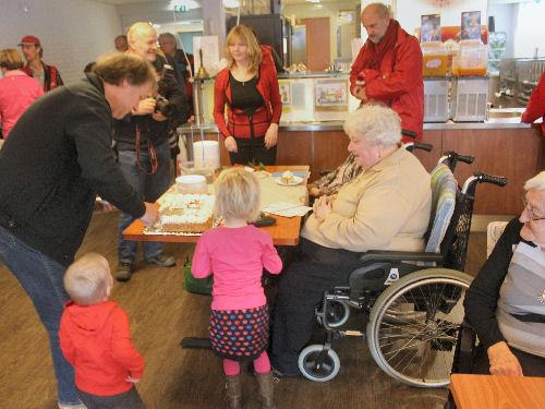10 februari 2015 - Hans Spekman, in het kader van de verkiezingscampagne, op bezoek in Voornesteijn.