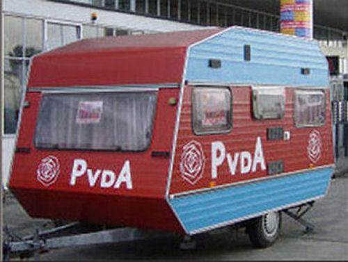 2006 - Onze PvdA caravan stond te pronken op het partijcongres in Rotterdam. In 2012 ging onze caravan met pensioen