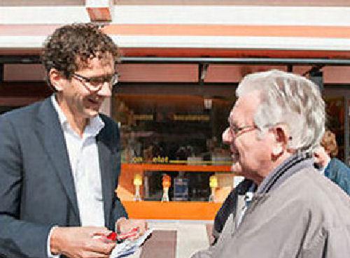 2009 - Jaap Hollaar in gesprek met onze gast Jeroen Dijsselbloem