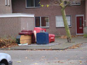 Meubilair afval