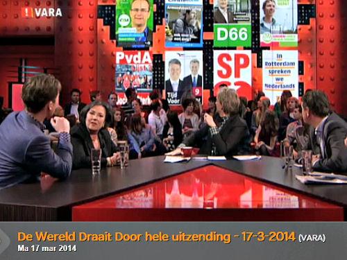 2014 - Op 17 maart was onze verkiezingsposter te zien in De Wereld Draait Door! En dat is best bijzonder.