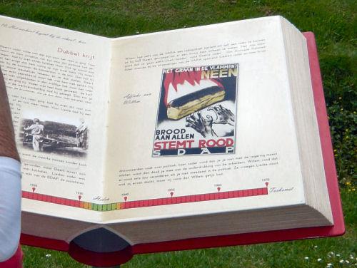 2014 - In het Veenpark in Barger Compascuum ligt een boek dat alle PvdA'ers vast heel mooi zullen vinden!