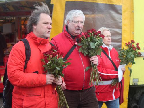 Op weg met de rozen