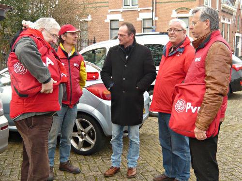 Een deel van onze vrijdag ploeg  -  Henk Joosten en Truus de Graaf ontbreken op deze foto.