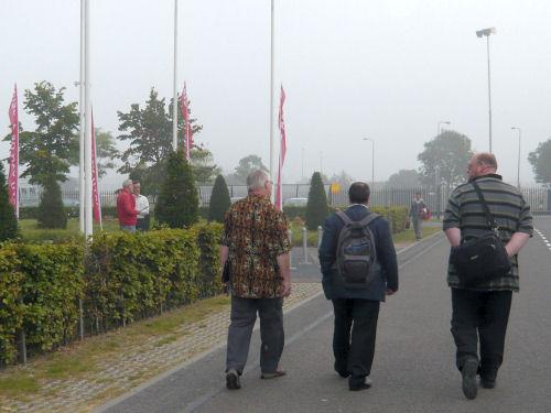Daan, Sander Terphuis en Ben op weg naar de ledenraadpleging...