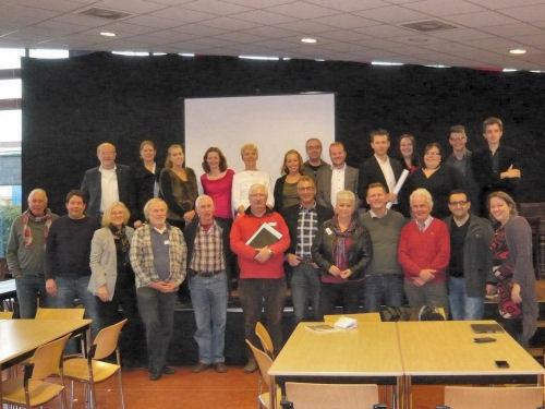 Een foto van alle deelnemers/sters aan de Workshop Campagne voeren...