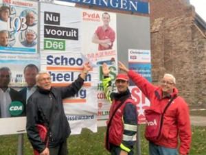 En nu staan alle Hellevoetse PvdA'ers een keer op de foto...
