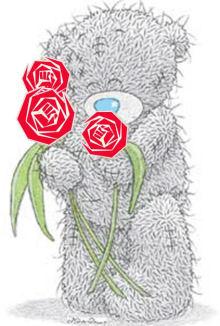 Beertje met rozen 220
