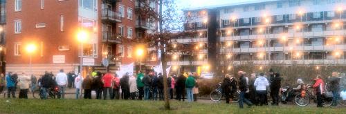 Protest bij de Huis Artsen Post (HAP)