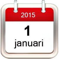 1 januari 2015