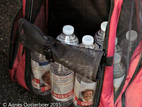 Vanwege de Waterschapsverkiezingen werden er natuurlijk flesjes water uitgedeeld!