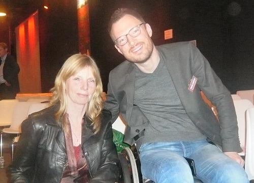 Otwin van Dijk en onze Hennie, samen op de bres voor toegankelijkheid voor alle rolstoelers...