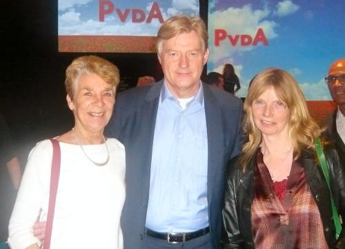 De Hellevoetse dames met Martin van Rijn...