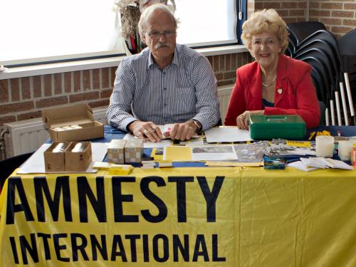 Goede doelen, zoals o.a. Amnesty International, waren ook present!